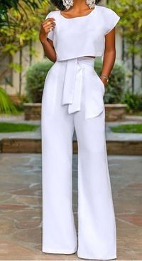 African fashion is available in a wide range of style and design. Whether it is men African fashion or women African fashion, you will notice. White Outfits, Classy Outfits, Cool Outfits, Casual Outfits, Amazing Outfits, White Pants Outfit, All White Outfit, Fashionable Outfits, Dress Casual