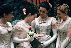 "Costumes from the movie ""The Age of Innocence"" realised by Martin Scorses in 1993"