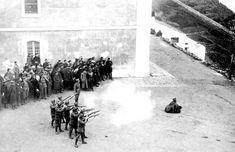 Melilla, ejecución en noviembre de 1921 del legionario Manuel Arias, condenado por el asesinato de un cabo del Tercio