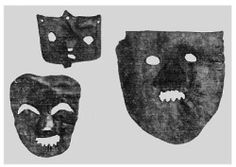 "dark-archive: "" Slavic Pagan Masks in Russia - Svyatka Masks From Ancient Novgorod """
