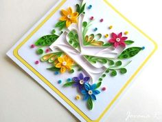 Surprise your loved ones with this unique and handmade quilling card. I am more than happy to make up any letter that you wish. The colors can also be customised. The card is made from top quality cardstock , acid free paper (fade resistant) and non-tox Paper Quilling Designs, Quilling Paper Craft, Quilling Cards, Paper Crafts, Quilling Ideas, Paper Art, Quilling Letters, Stylish Alphabets, Quilling Techniques