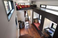 Space Saving Interior Design For Comfortable Life In Small House On Wheels