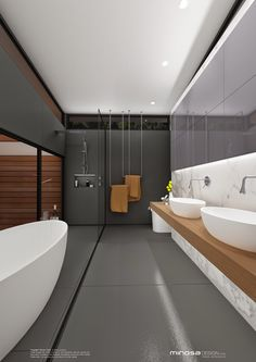 Minosa Design: Bathroom with a view - Bathing with nature.