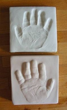 baby clay prints imprints and plaster casts