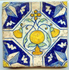 Dutch Handmade tiles can be colour coordinated and customized re. shape, texture, pattern, etc. by ceramic design studios