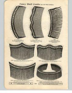 1900-PAPER-AD-4-PG-Turtle-Toutoise-Shell-Hair-Comb-Ornament-Mottled