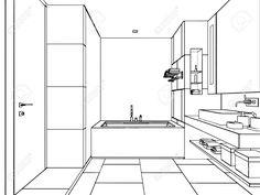 Skizze, Zeichnung Perspektive Eines Inter Raum Umreißen Lizenzfreie Fotos, Bilder Und Stock Fotografie. Image 44774169.