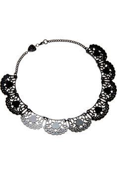 Black Lace Doily Necklace #Tatty #Devine