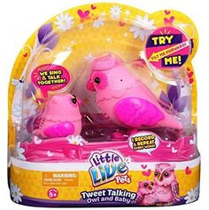 Little Live Pets S2 Tweet Talking Owl And Baby Heartwing Family Pink Girl's Gift #NotApplicable