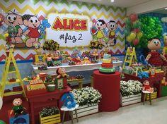 Turma da Mônica...festa fofa e alegre  demais!!! ❤️ com lindos balões @alinebaloes...