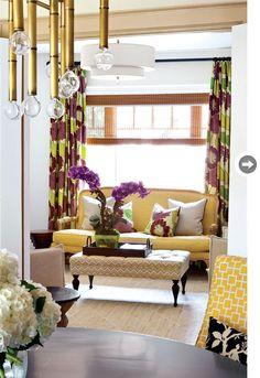 Citrine, neutrals, purple & greens...very interesting colour scheme   Designers Erin Feasby & Cindy Bleeks  Photo Virginia MacDonald