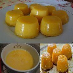 Quindim de leite condensado - Receitas da Vovó Mini Desserts, Asian Desserts, Delicious Desserts, Yummy Food, Sweet Recipes, Cake Recipes, Dessert Recipes, Cooking Joy, Cooking Recipes