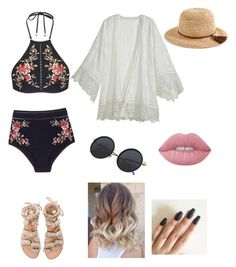 """""""Untitled #23"""" by serays on Polyvore featuring Zimmermann, Calypso St. Barth, Elina Linardaki, J.Crew and Lime Crime"""