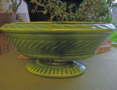 Haeger Pottery Greenery Footed Planter 1950 Sage by LazyYVintage