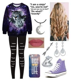 """""""Untitled#121"""" by karyno ❤ liked on Polyvore featuring Carolina Glamour Collection, Casetify, She's So, Converse and Bling Jewelry"""