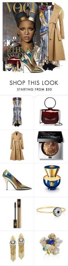 """Queen Nefertiti"" by eleonoragocevska ❤ liked on Polyvore featuring Nasty Gal, Calvin Klein 205W39NYC, Bobbi Brown Cosmetics, STELLA McCARTNEY, Versace, Yves Saint Laurent, Chanel, Ileana Makri, Fred Leighton and Anabela Chan"