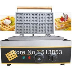 480.00$  Buy now - Free shipping High-output Stainless steel Rectangle Waffle Machine  #magazineonline