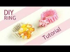 Sparkly Macrame Ring Tutorial - YouTube