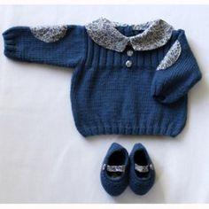 Kit Tricot Pull bleu col Liberty - Marie Claire Idées. Stella Beuvard ·  Pull enfants d7f5d08bd51