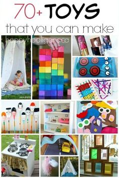 70+ Awesome homemade toys to make for kids! Easy, fun and inexpensive toys that you can make and give for Christmas, birthdays or any old day!