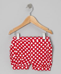 Polka dot print shorts