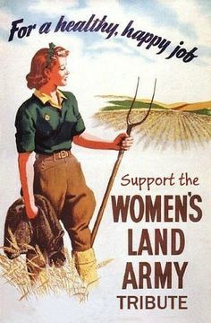 Poster for the Women's Land Army - usually referred to as 'Land Girls' Why Were They Called Land Girls?The Land Girls when known by their official name were called the WLA (Women's Land Army) but they. Vintage Advertisements, Vintage Ads, Vintage Posters, Retro Ads, Vintage Labels, Vintage Signs, Vintage Items, Penguin Books, Dig For Victory