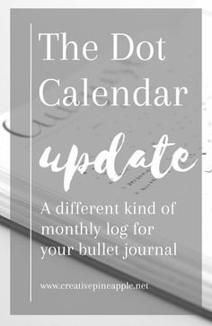The Dot Calendar is a minimalistic monthly log for your bullet journal. Read…
