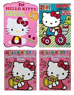 Set of 3 Hello Kitty 96 page   64 Page Jumbo Coloring Books Over 300 Pages  To Color 468630175cb65