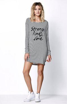 Strange Kind Of Love Stripe T-Shirt Dress