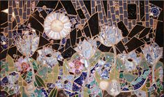 Moon Flowers                                                                                                                       $1450 24 x 30 inches                                                                                                          mosaic panel © 2006 by Artist Therese Desjardin Studio