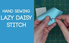 How to work a Lazy Daisy Stitch from Miss Daisy Patterns tutorials. Lazy Daisy Stitch, Daisy Pattern, Sewing Stitches, Hand Sewing, Sewing By Hand, Stitches, Sewing Coat, Hand Stitching