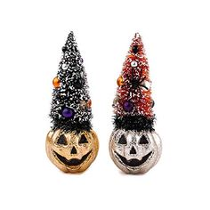 One Hundred 80 Degrees Set of Two Sisal Trees Bottle Brush on Pumpkin Decorations Pumpkin Decorations, Christmas Decorations, Halloween Ornaments, Christmas Ornaments, Christopher Radko, List Of Artists, Bottle Brush Trees, All Brands, Sisal