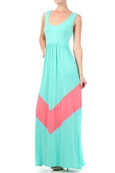 Goldfinch Boutique- Lana Chevron Maxi Dress