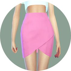 SIMS4 marigold: Tulip Skirt_튤립 스커트_여자 의상