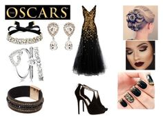 """The Oscars"" by lizziej568 on Polyvore featuring Oscar de la Renta, Jimmy Choo, BaubleBar, Dolce&Gabbana and runway"