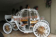 Cinderella Wedding Carriage | WEDDING GOLDEN CINDERELLA CARRIAGE Cinderella Carriage, Cinderella Wedding, Wedding Carriage, Patiala, Pink Dress, India, Trading Company, Decor, Pink Sundress