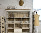 Painted Cottage Chic Shabby Chateau Farmhouse Linen Cabinet CC42