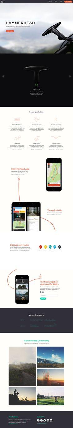 Hammerhead - Flat Design Website