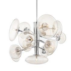 Opera Chandelier – BURKE DECOR Sloped Ceiling, Ceiling Lights, Kelly Behun, Multi Light Pendant, Thing 1, Candelabra Bulbs, Hudson Valley Lighting, Nickel Finish, Polished Nickel