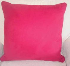 Fire Engine, bright red, thick faux suede cushion. Feels just like real suede. Made as a size of 20 inches square £40.00