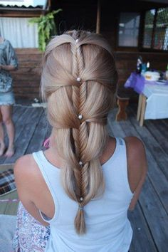 Fishtail braided cascade | Kenra Professional. Braided Hairstyles.