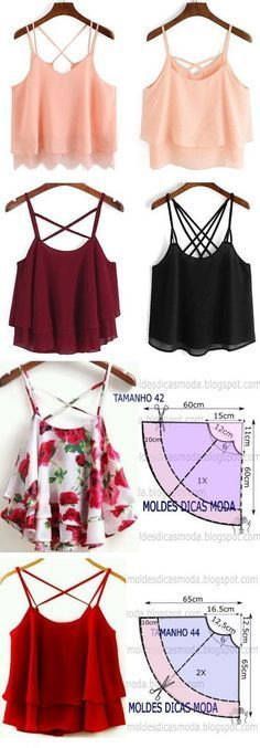 Ideas Sewing Patterns Tops Diy For 2019 Blouse Patterns, Clothing Patterns, Blouse Designs, Fashion Sewing, Diy Fashion, Fashion Top, Work Fashion, Unique Fashion, Fashion Ideas