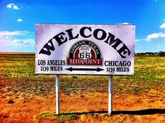 Midpoint on Route 66 - Adrian Texas  at the 1139 mile mark is exactly mid point between Chicago and Los Angeles