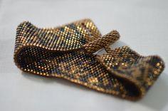 Peyote Seed Bead Bracelet Beadwoven by MilionSplendidPearls