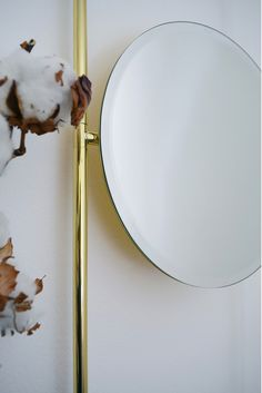 The console is made in marquina marble and polished brass with mirror. design: GoodMorning studio