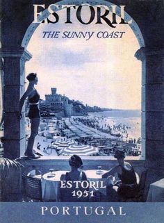 Vintage Travel Poster - Estoril ~ Costa do Sol ~ Portugal - Visit Portugal, Spain And Portugal, Lisbon Portugal, Poster Ads, Advertising Poster, Pub Vintage, Beaches In The World, Old Ads, Vintage Travel Posters