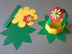 Корзиночка с цветком из бумаги - Сайт для мам малышей