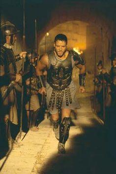 Crowe as Roman Gladiator Maximus