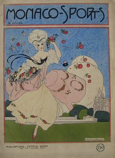"""Monaco-Sports"" 1913 - Cover illustration by Umberto Brunelleschi"