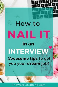 How to nail it in a job interview (awesome tips to get your dream job)! All the best tips for how to be successful in your job interview. Covering job interview questions, questions to ask your interviewer, job interview preparation and more. Interview Answers, Job Interview Questions, Job Interview Tips, Job Interviews, Interview Techniques, Interview Nails, Find A Job, Get The Job, Resume Writing